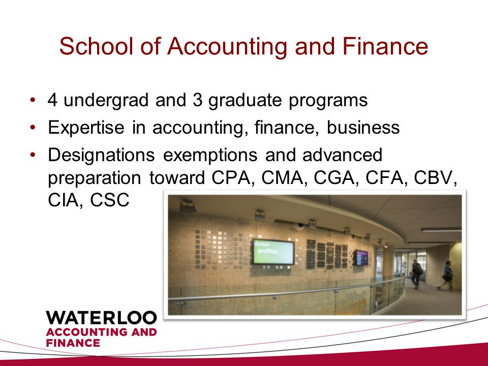 Financial Literacy Competition Designed by uWaterloo's School of Accounting and Finance in collaboration with our Business Studies teachers team Experiential learning opportunity for students Run for two years: 22 schools in 2012, approximately 40 in 2013 Target everyone in 2014!