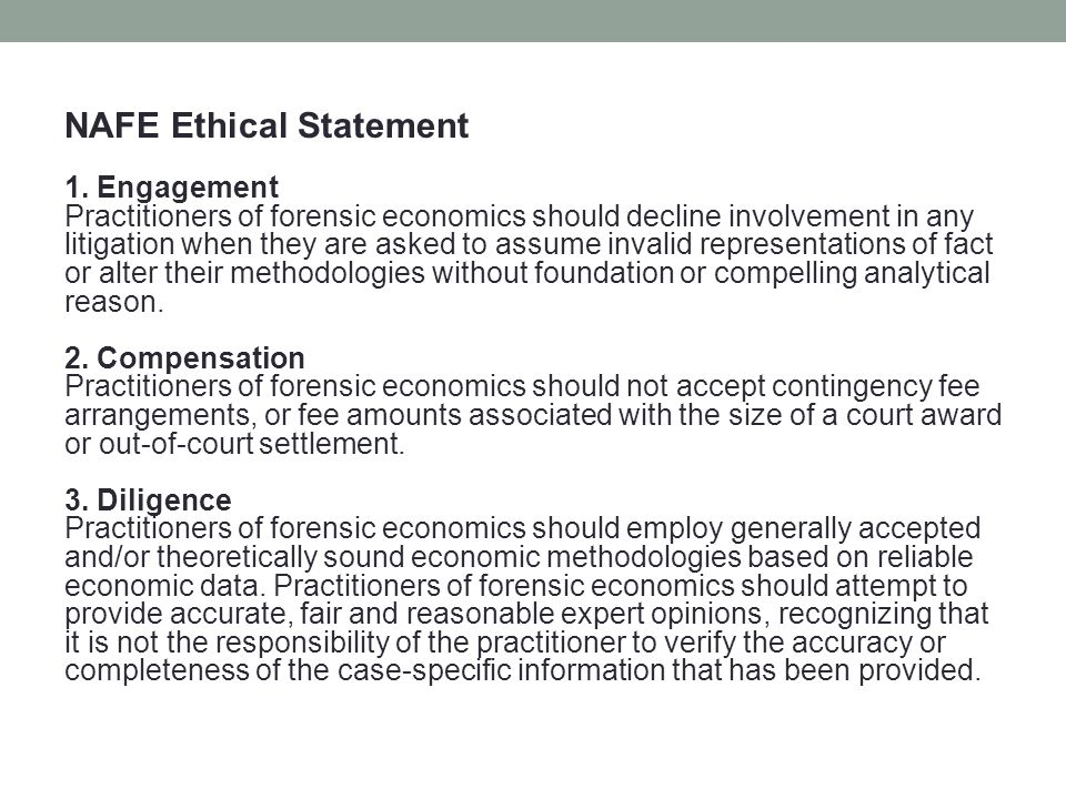 NAFE Ethical Statement 1.