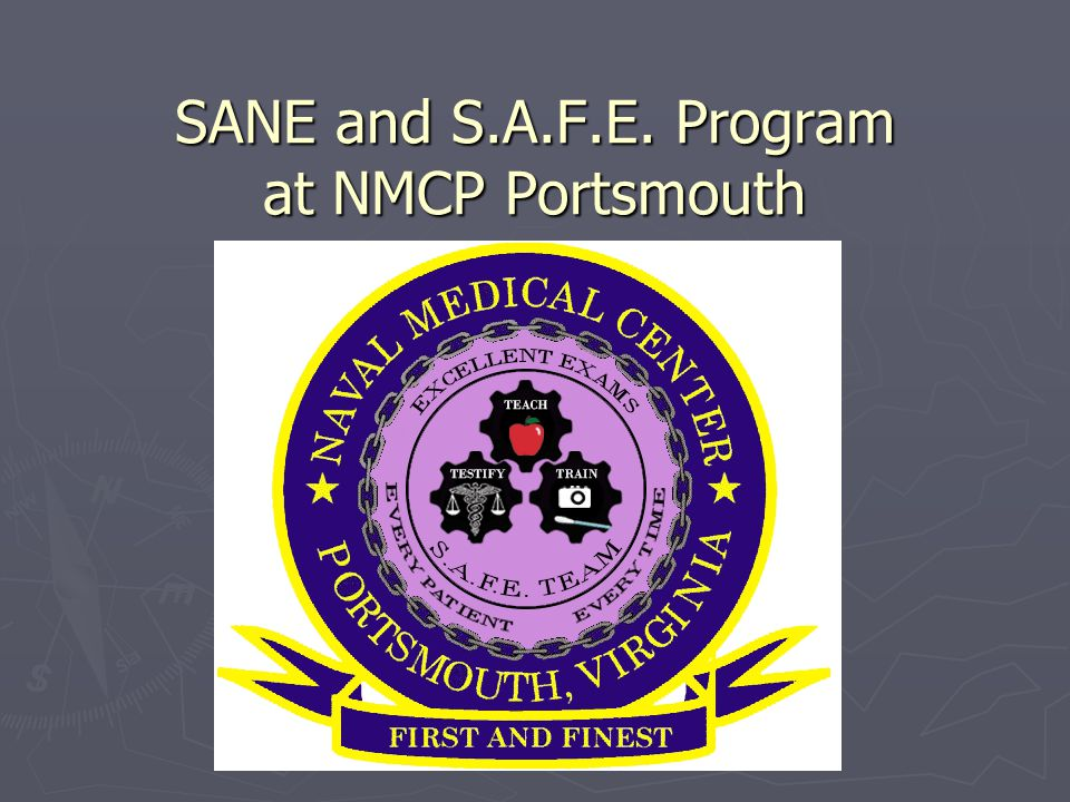 SANE and S.A.F.E. Program at NMCP Portsmouth