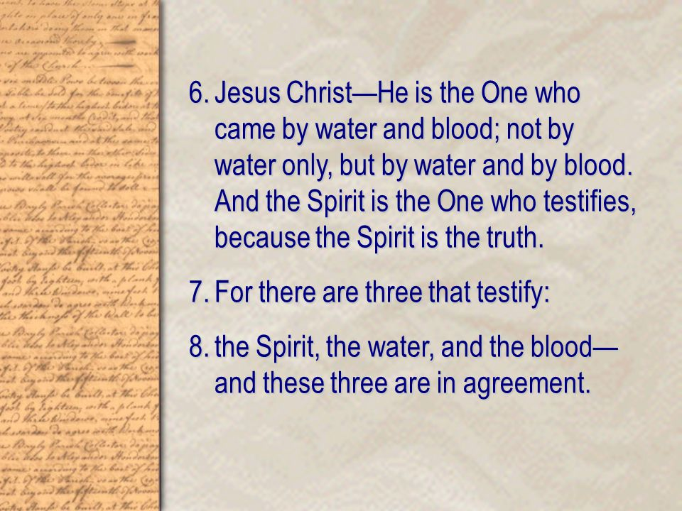 How We Know the Water Refers to the Incarnation John 3:4-5 Nicodemus asked Him.