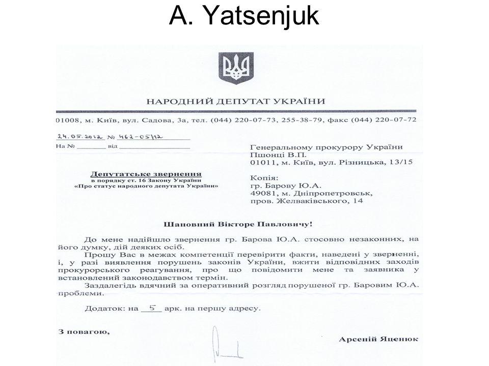 A. Yatsenjuk