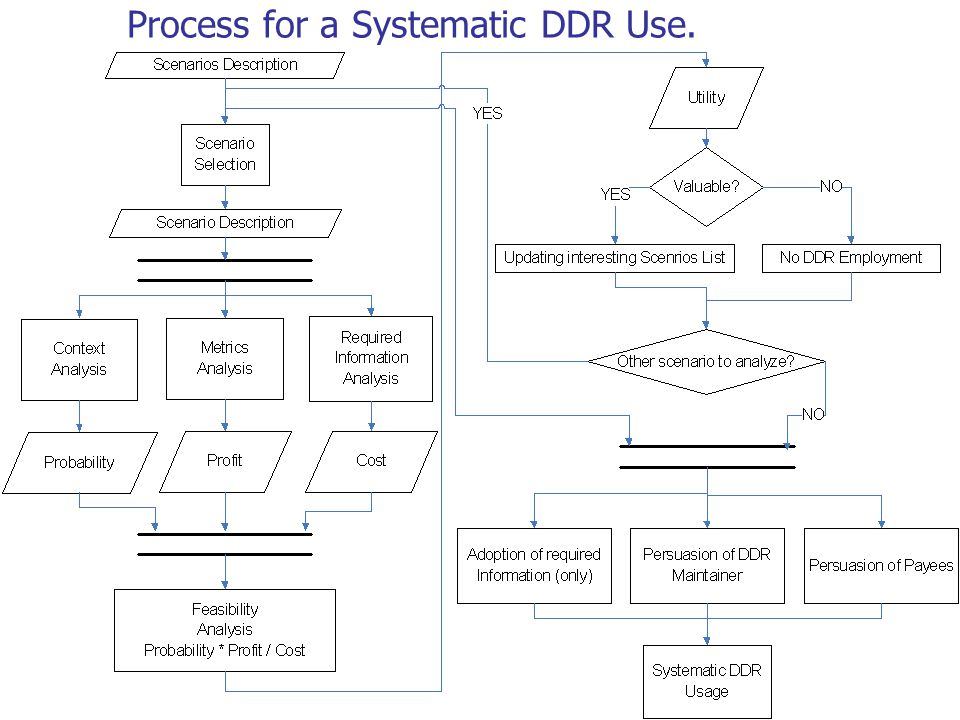 14 Process for a Systematic DDR Use.