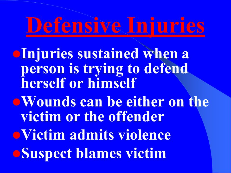Evaluating Injuries