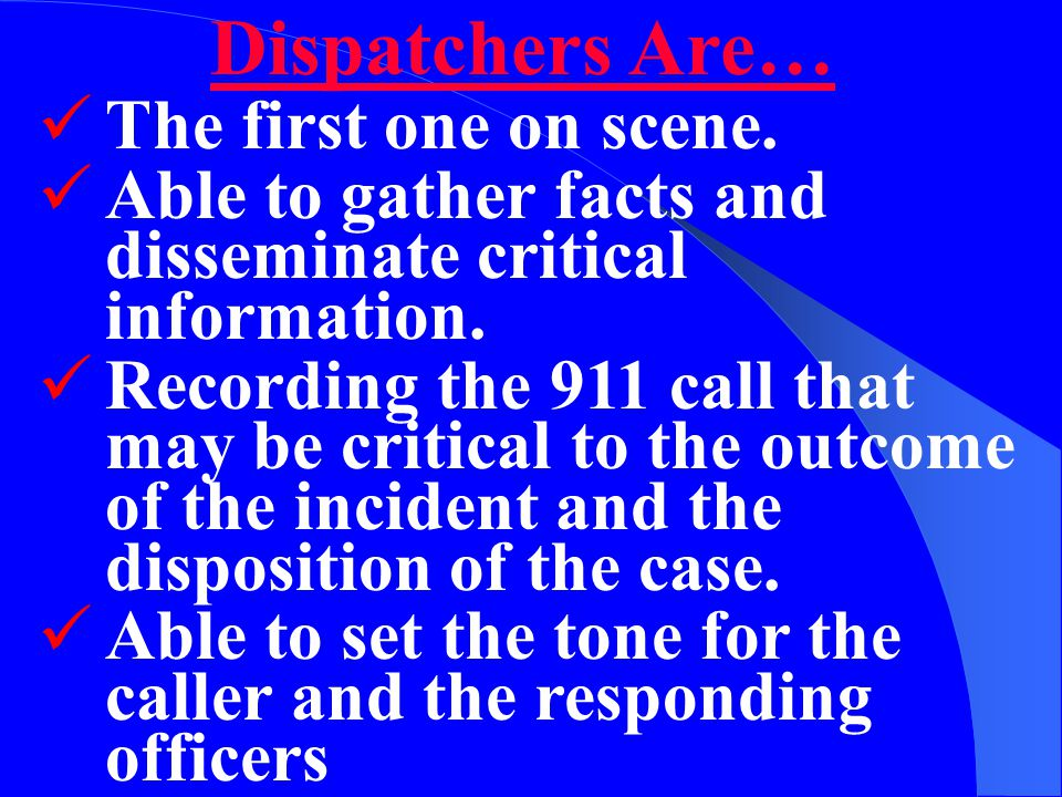 The information available in a 911 call may save your life and make your case