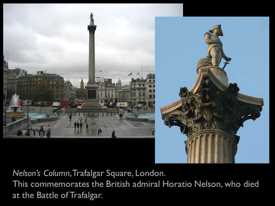 Nelson's Column, Trafalgar Square, London.