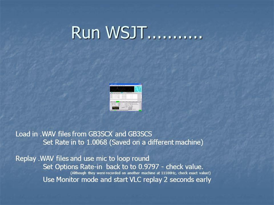 Run WSJT...........
