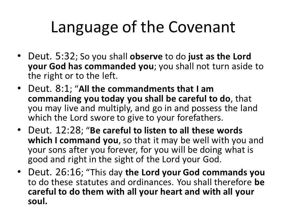 Language of the Covenant Deut.