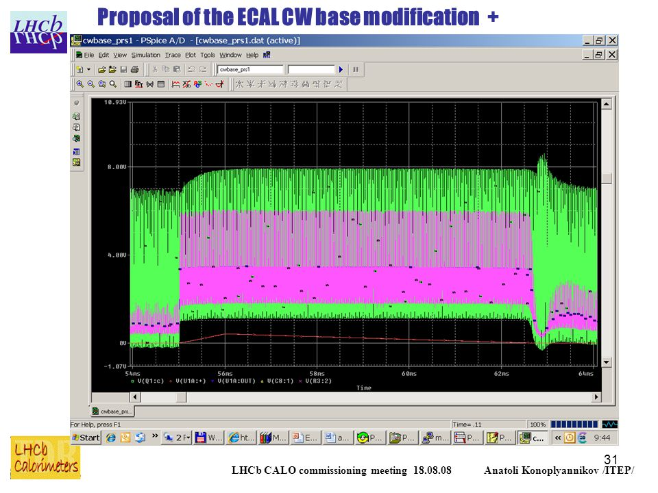 31 LHCb CALO commissioning meeting 18.08.08 Anatoli Konoplyannikov /ITEP/ Proposal of the ECAL CW base modification +