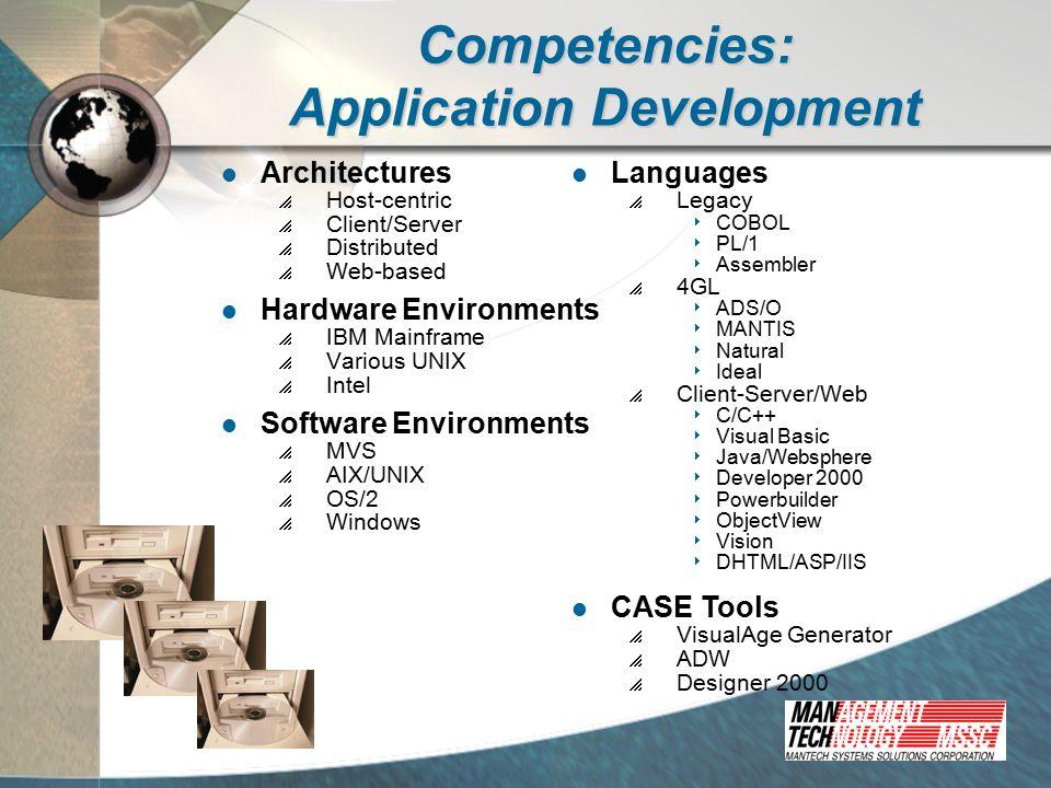 Competencies: Database Services Database and Application Conversion Database Design, Development, & Warehousing Website Design, Development, and Hosting
