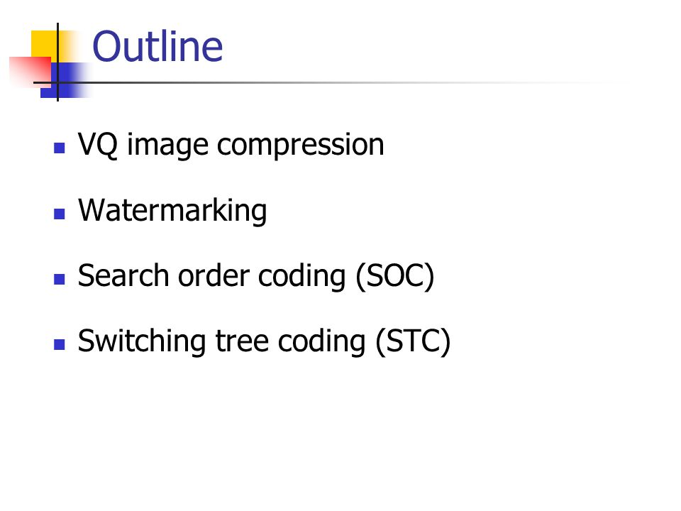 Search-Order Coding (SOC)