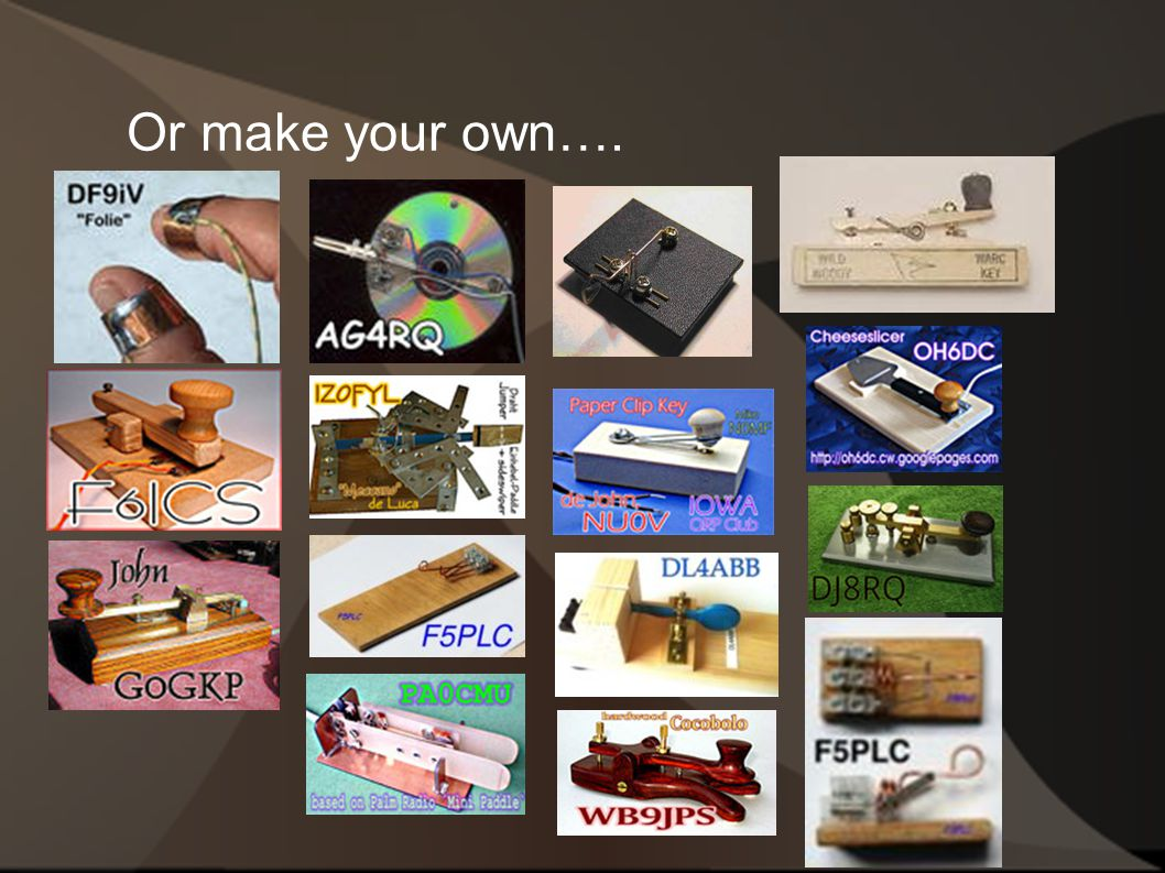 Or make your own….