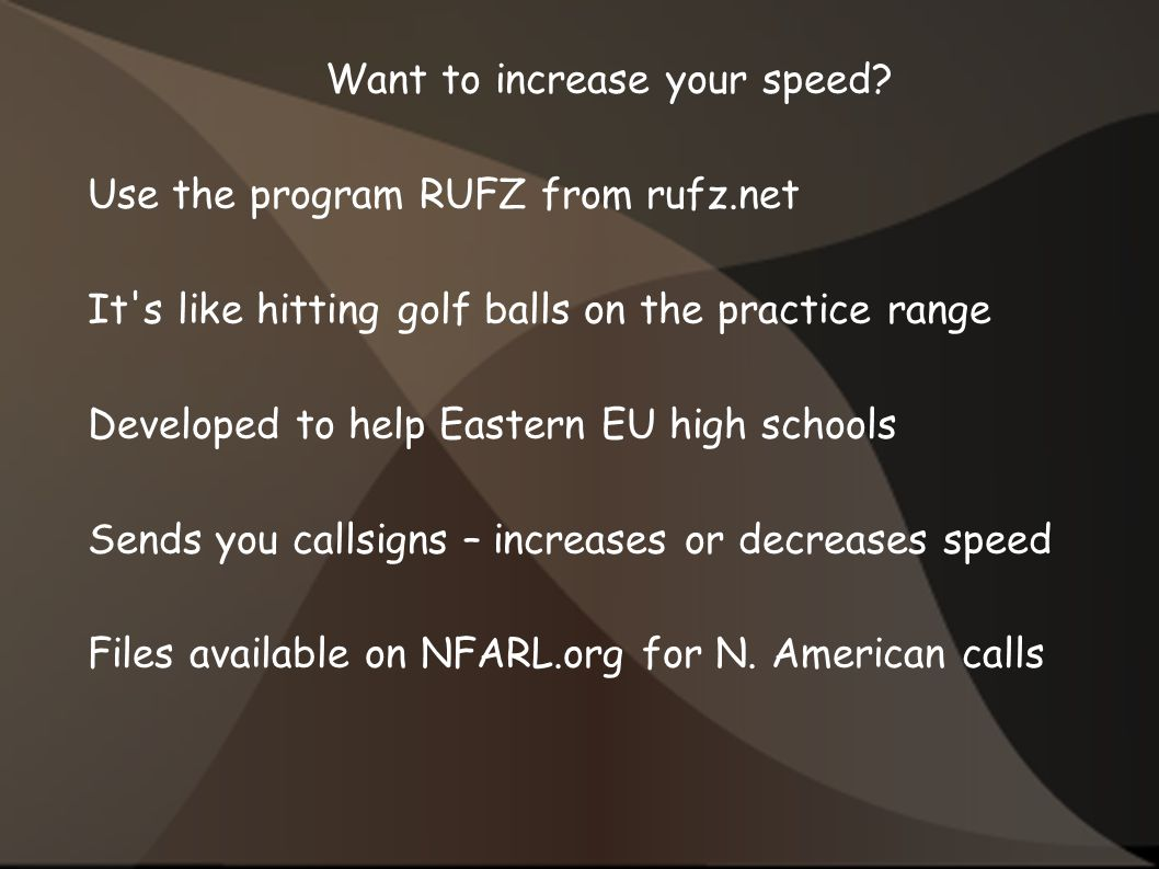 Want to increase your speed.