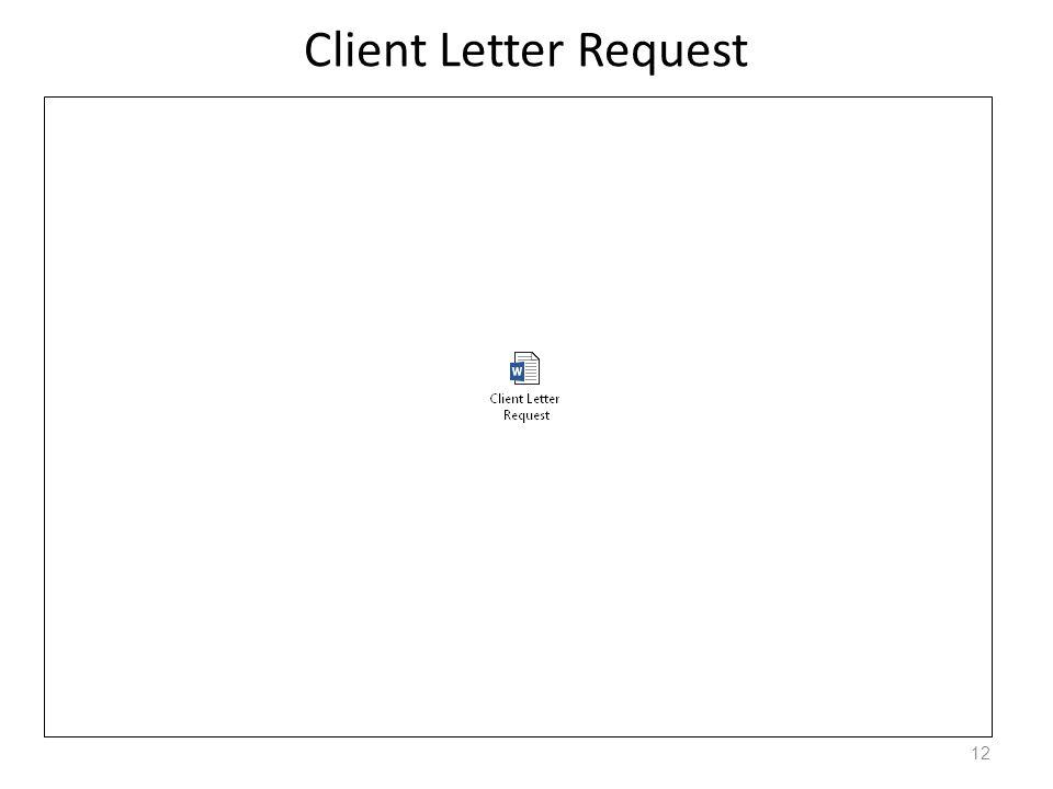 Client Letter Request 12