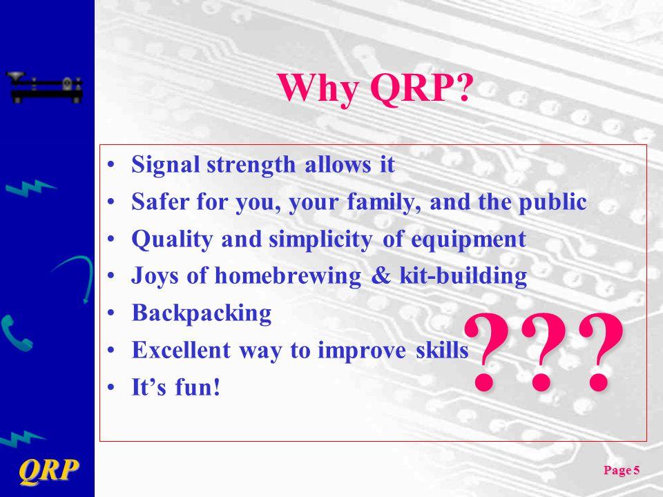 QRP Page 66 QRP References: Vendors