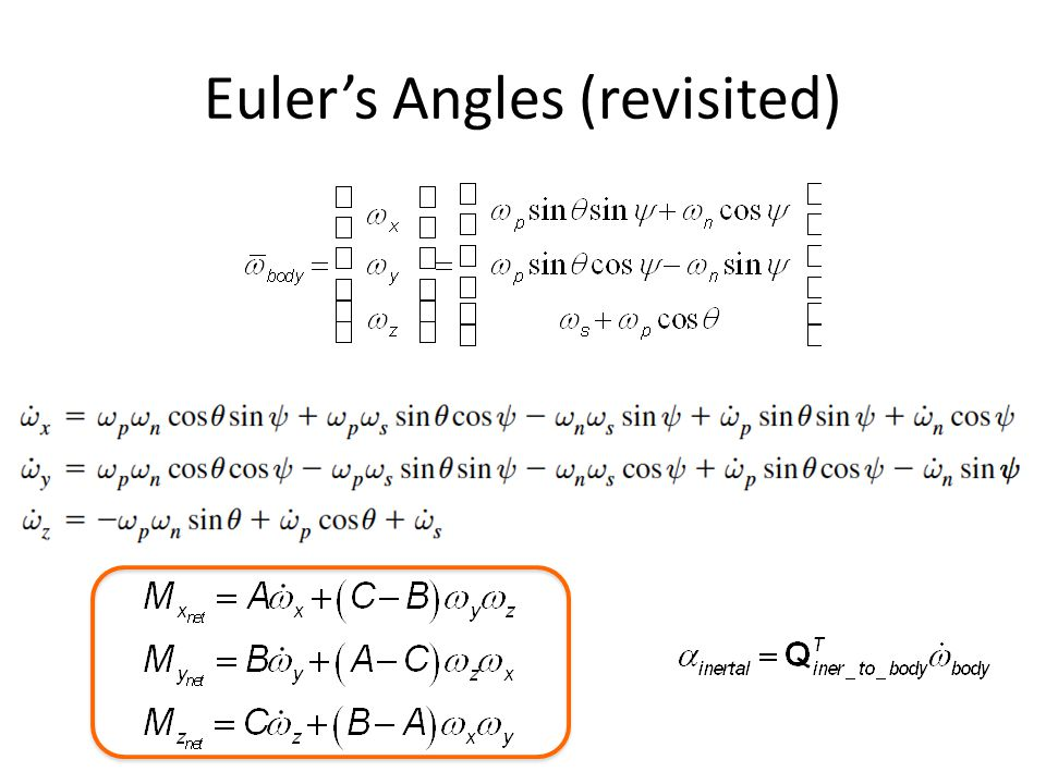 Euler's Angles (revisited)
