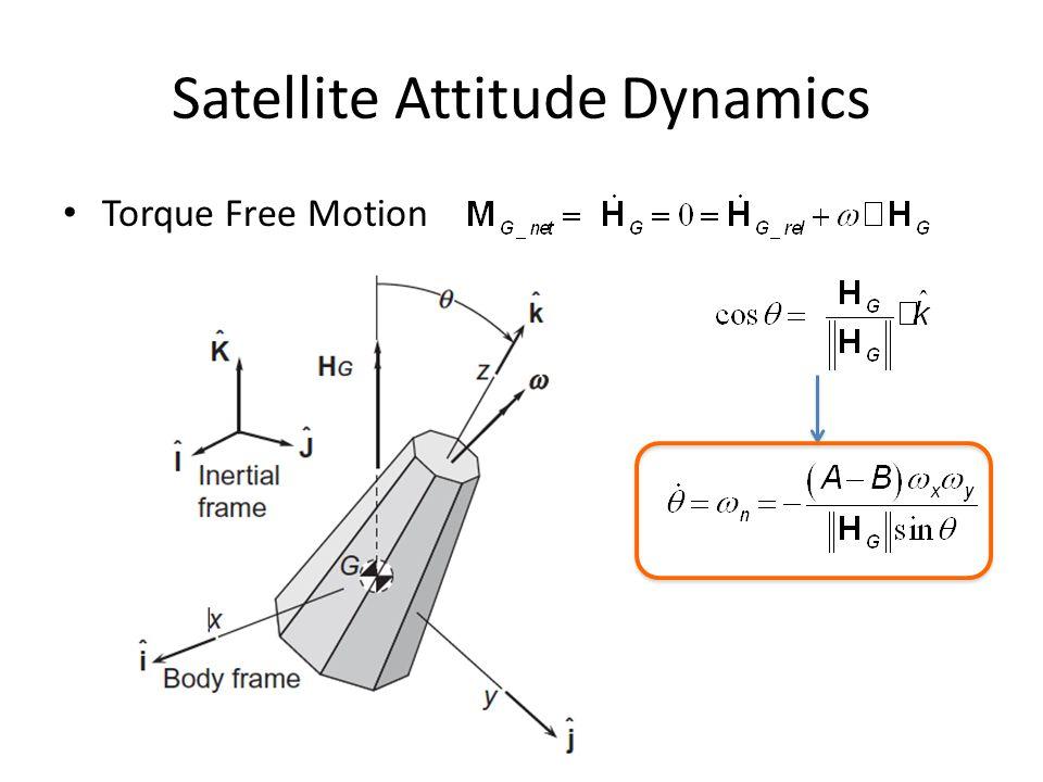 Satellite Attitude Dynamics Torque Free Motion