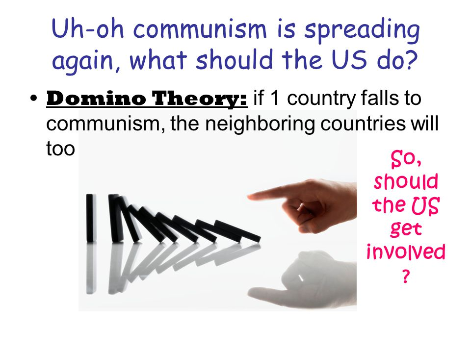 Solution.Divide V. in ½ : –North = commie –South = free **sound familiar.