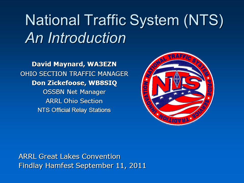 National Traffic System (NTS) Messaging Basics Outline What is the National Traffic System.