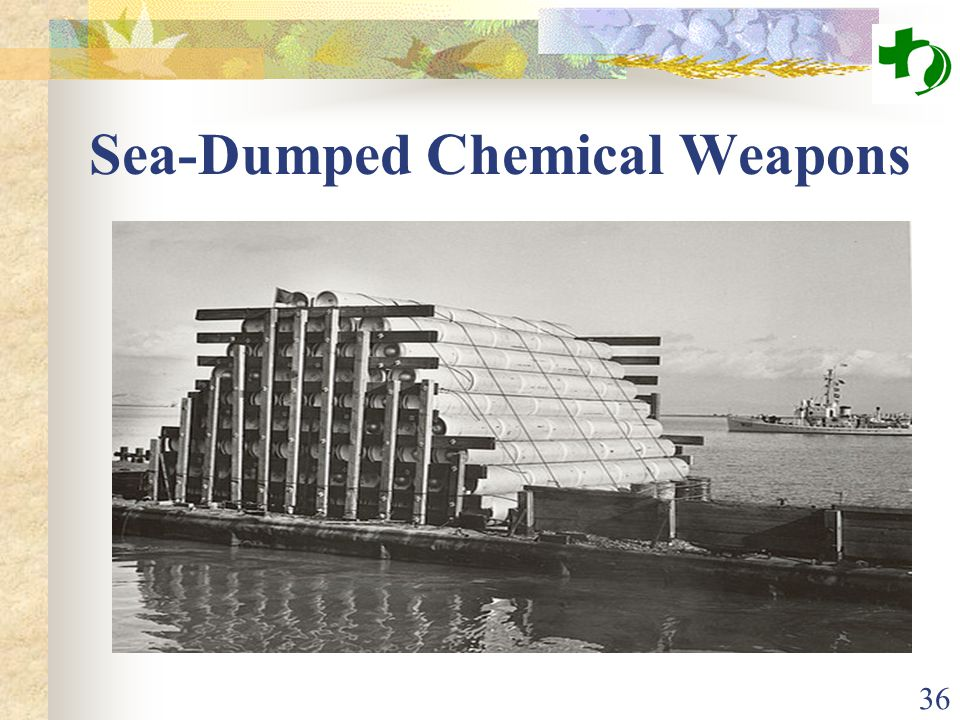 36 Sea-Dumped Chemical Weapons