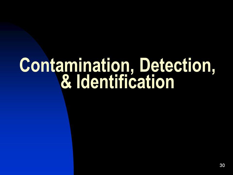 30 Contamination, Detection, & Identification