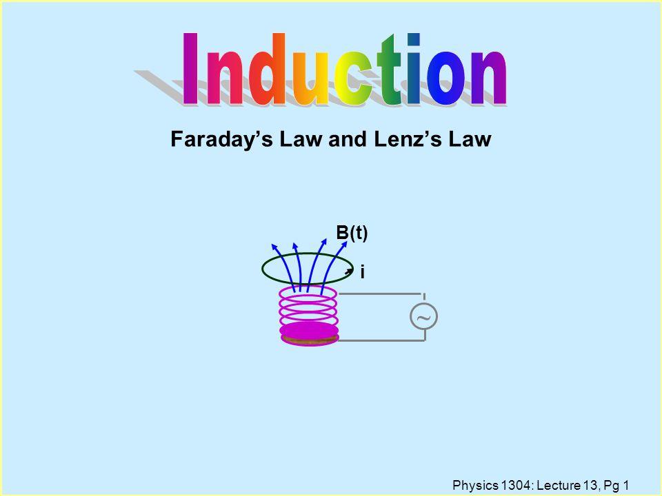 Physics 1304: Lecture 13, Pg 31 Electric Motors and Generators
