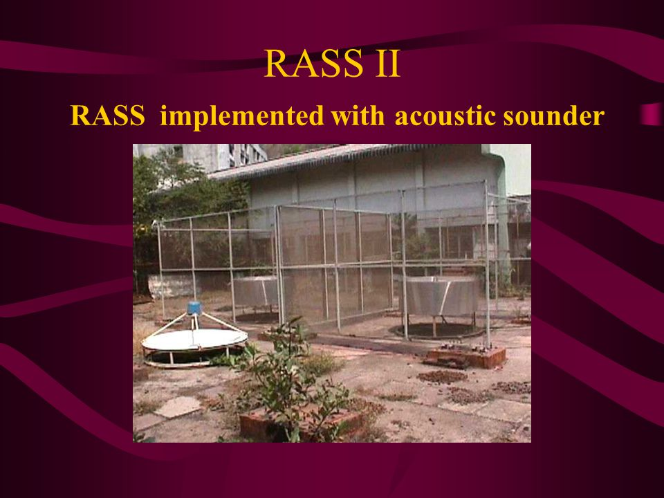 RASS II RASS implemented with acoustic sounder