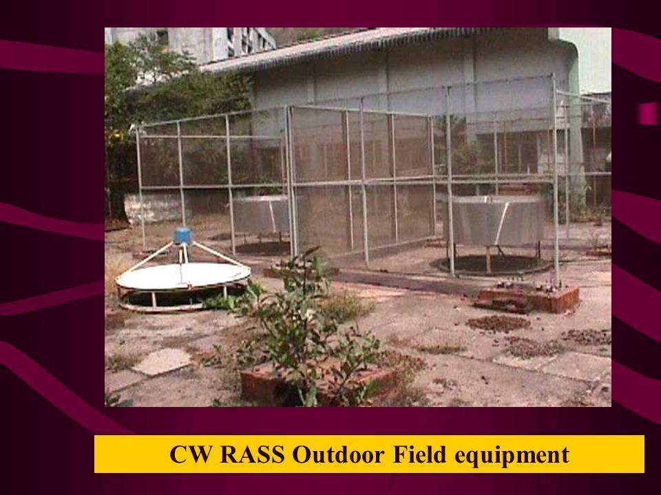 CW RASS Outdoor Field equipment