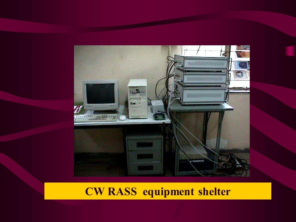 CW RASS equipment shelter