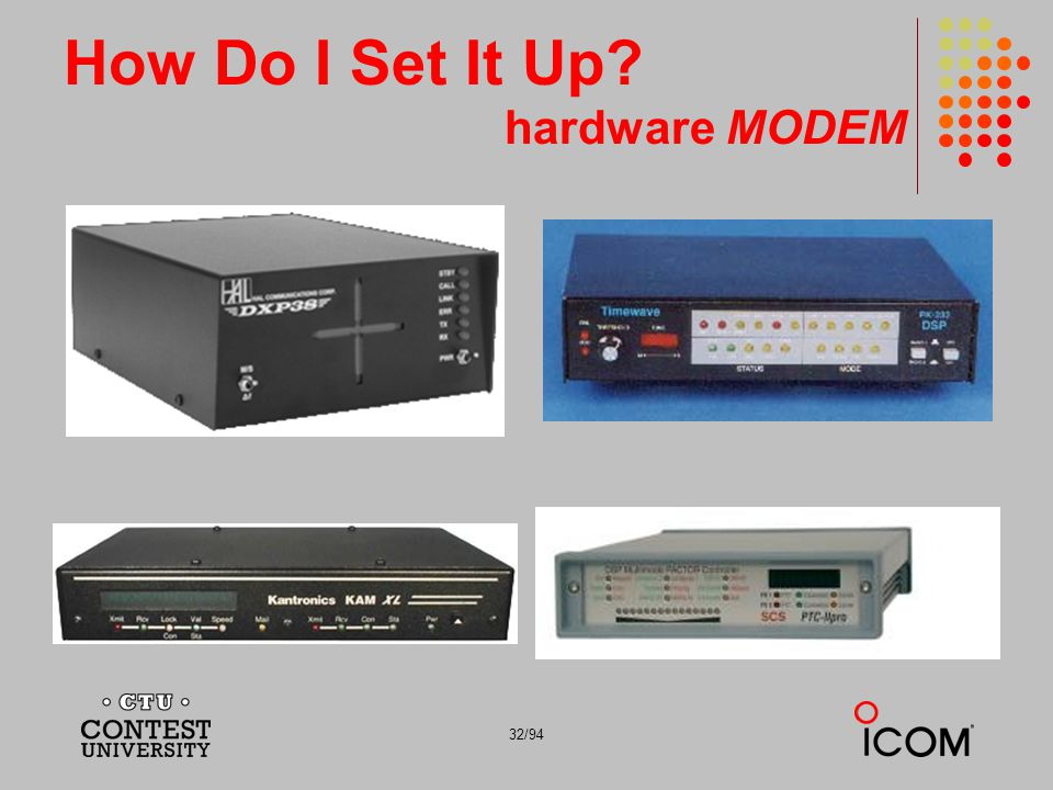 32/94 How Do I Set It Up? hardware MODEM