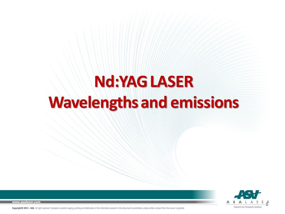 Nd:YAG LASER Wavelengths and emissions 1