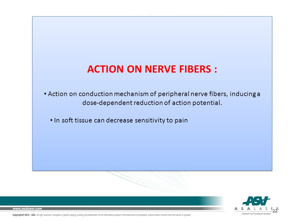 ACTION ON NERVE FIBERS : Action on conduction mechanism of peripheral nerve fibers, inducing a dose-dependent reduction of action potential. In soft t