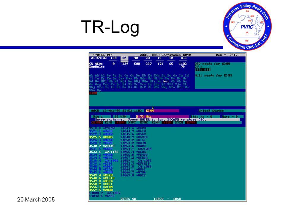 20 March 2005 TR-Log