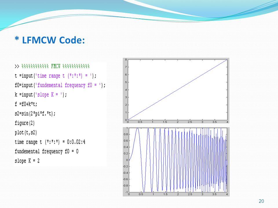 * LFMCW Code: 20