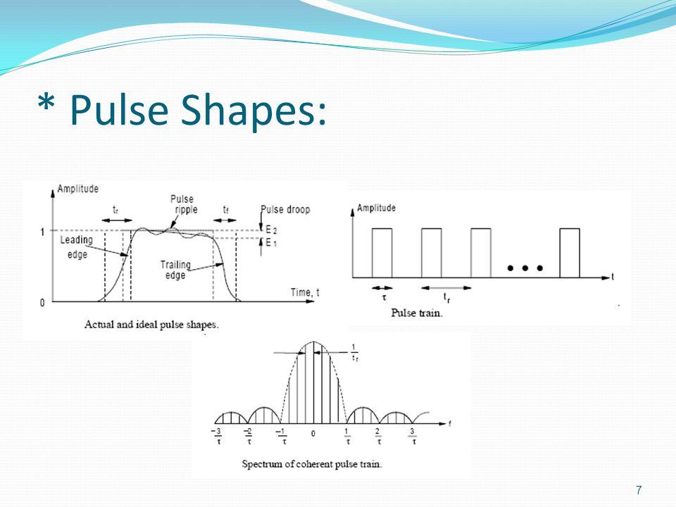 * Pulse Shapes: 7