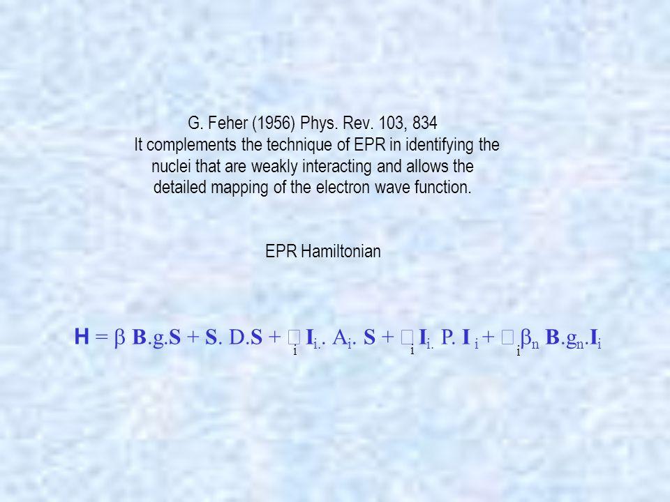EPR spectrum of 2,2,6,6-tetramethyl-1-piperidinyl-oxy (TEMPO) in toluene- d 8 + 10% dimethylformamide-d 7 at 285.135GHz and 40K.