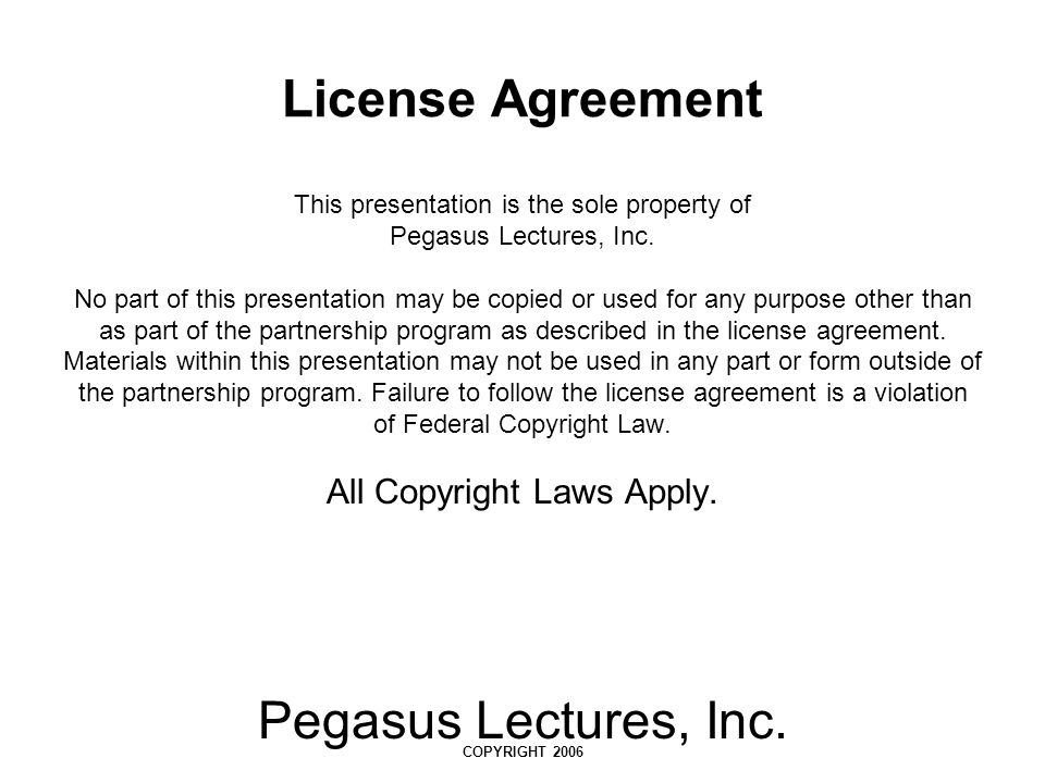 Pegasus Lectures, Inc. COPYRIGHT 2006 CW Frequency (Animation) (Pg 239)
