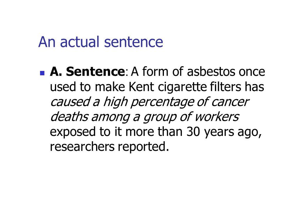 An actual sentence A.