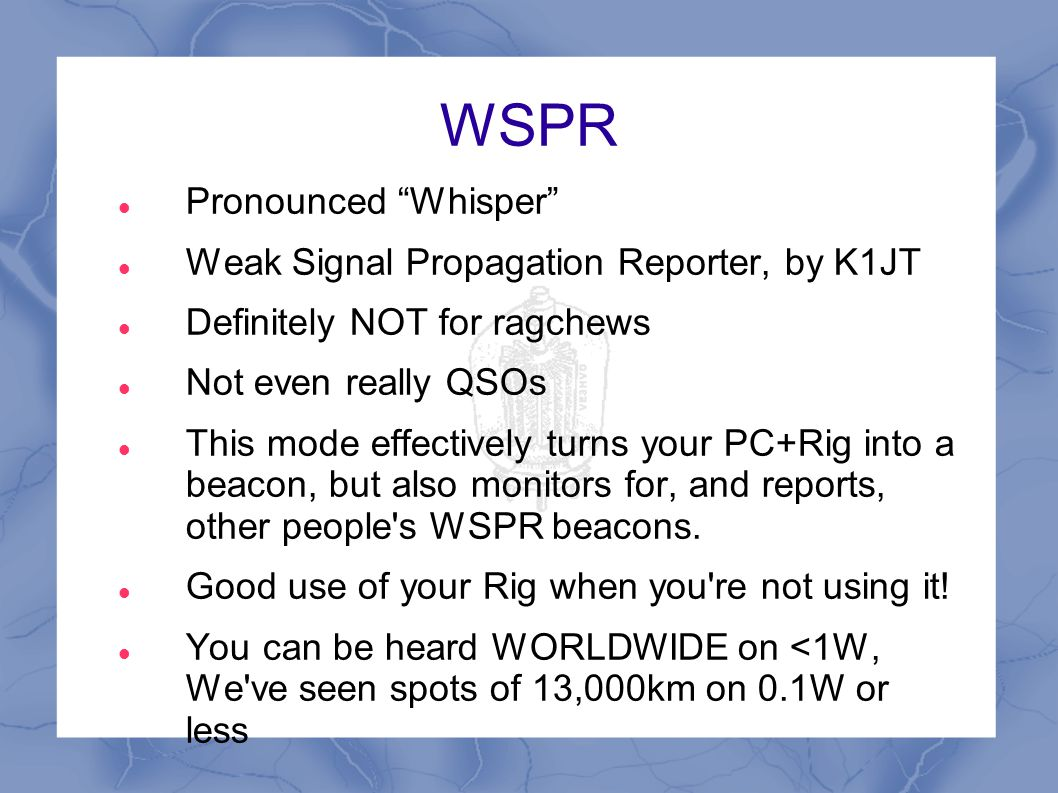 PSK31 - Demo (White with two sugars please!) ;-)