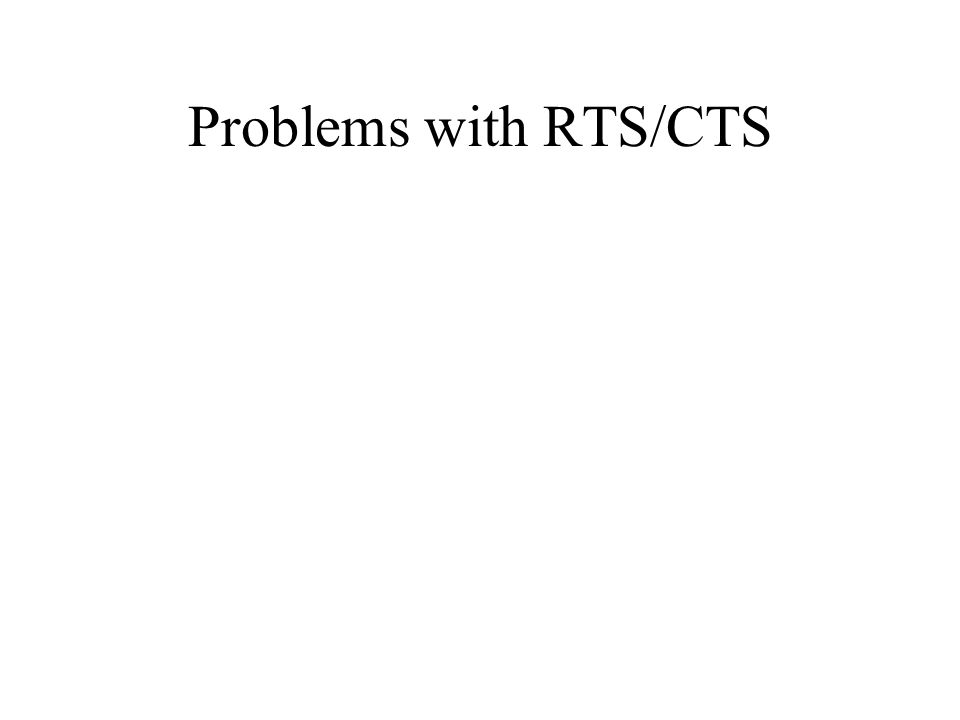 Problems with RTS/CTS