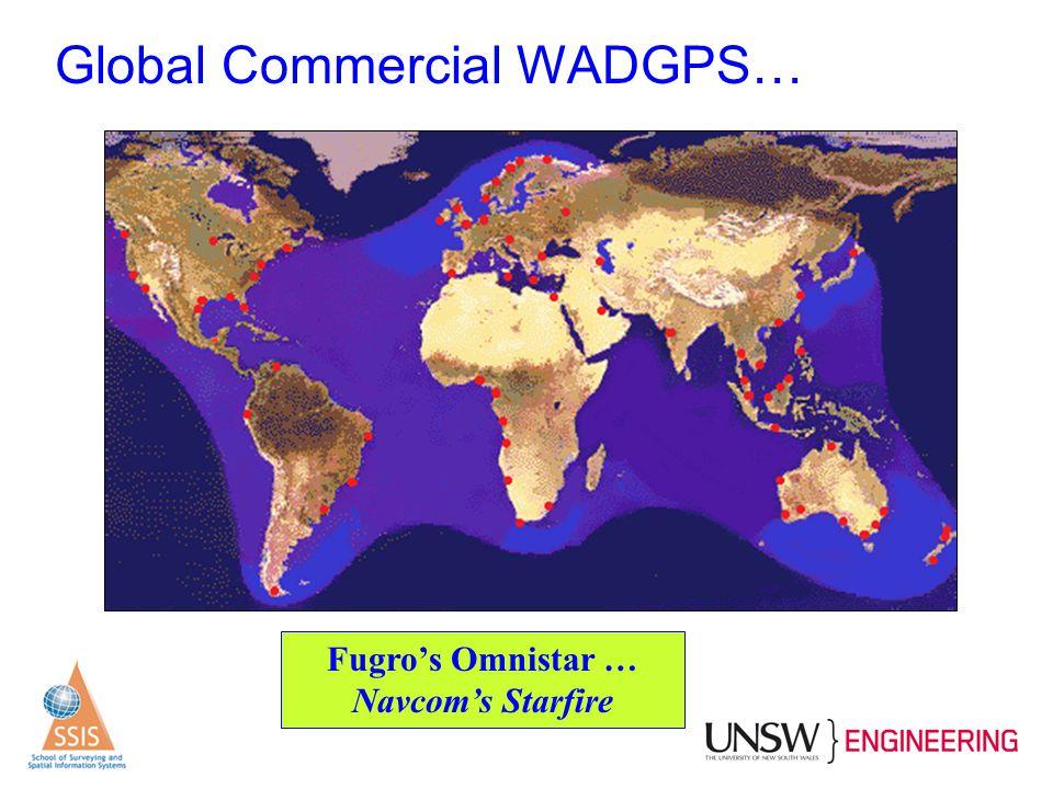 Global Commercial WADGPS… Fugro's Omnistar … Navcom's Starfire