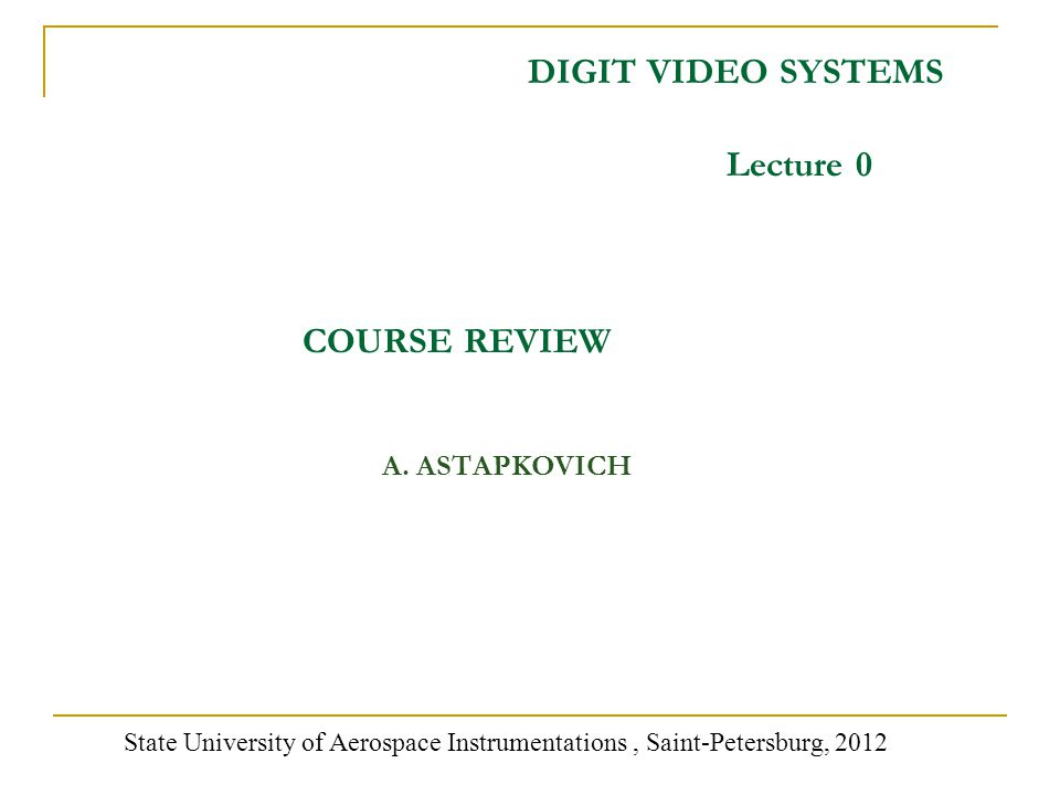 DIGIT VIDEO SYSTEMS A.