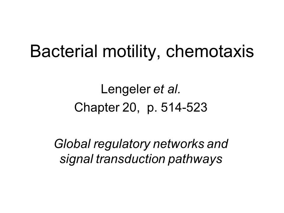Bacterial motility, chemotaxis Lengeler et al.Chapter 20, p.