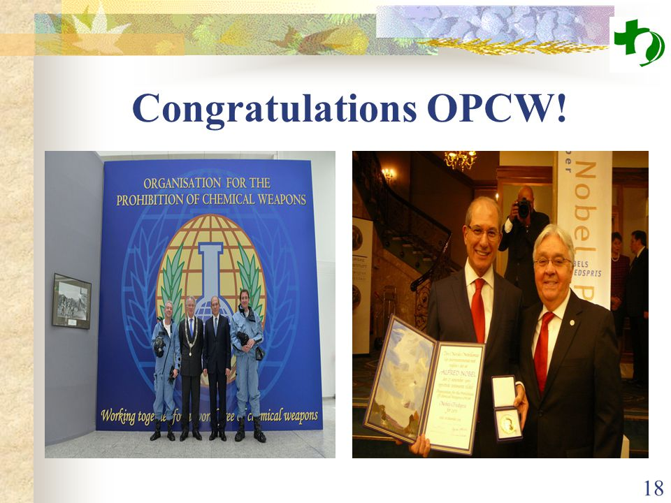 Congratulations OPCW! 18