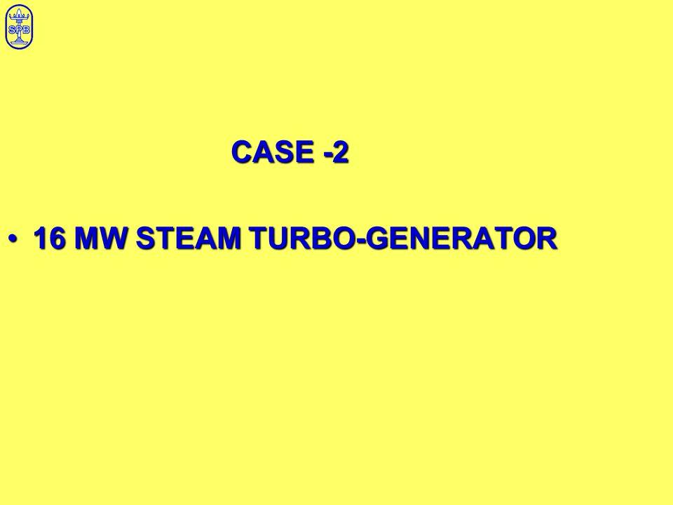 CASE -2 16 MW STEAM TURBO-GENERATOR16 MW STEAM TURBO-GENERATOR