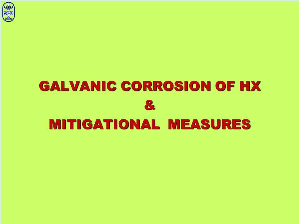 GALVANIC CORROSION OF HX & MITIGATIONAL MEASURES