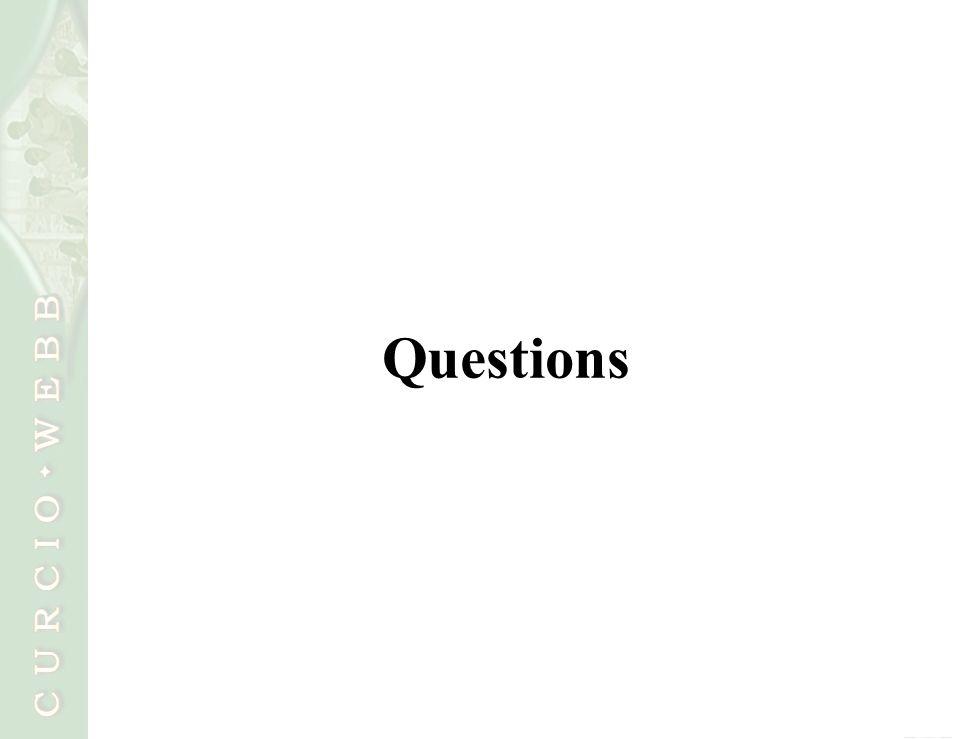 19 Copyright © 2010 Curcio Webb, LLC Questions