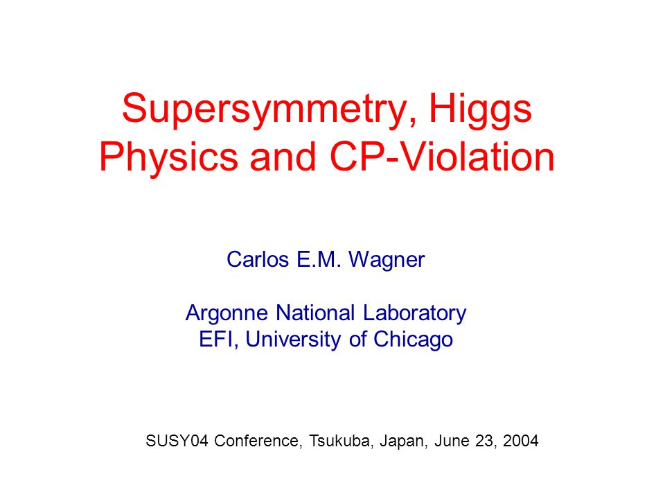 Carena, Mrenna, Wagner '98/99; Haber et al '99 Large corrections have important consequences for the Higgs sector: Destroy the relationship between the tau and bottom couplings and the corresponding masses Carena, Garcia, Nierste, C.W.'99/00; Gambino et al.