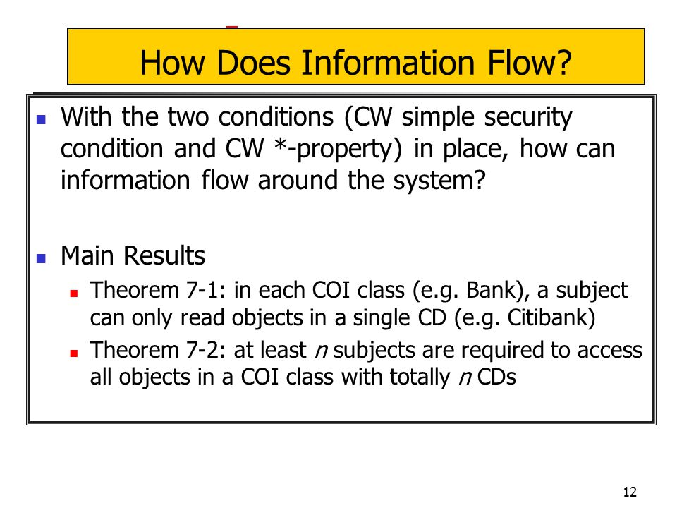 12 How Does Information Flow.