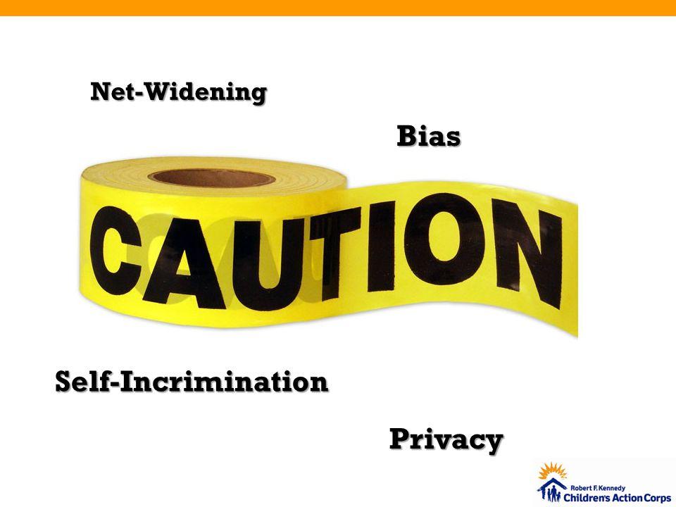 Net-Widening Self-Incrimination Bias Privacy