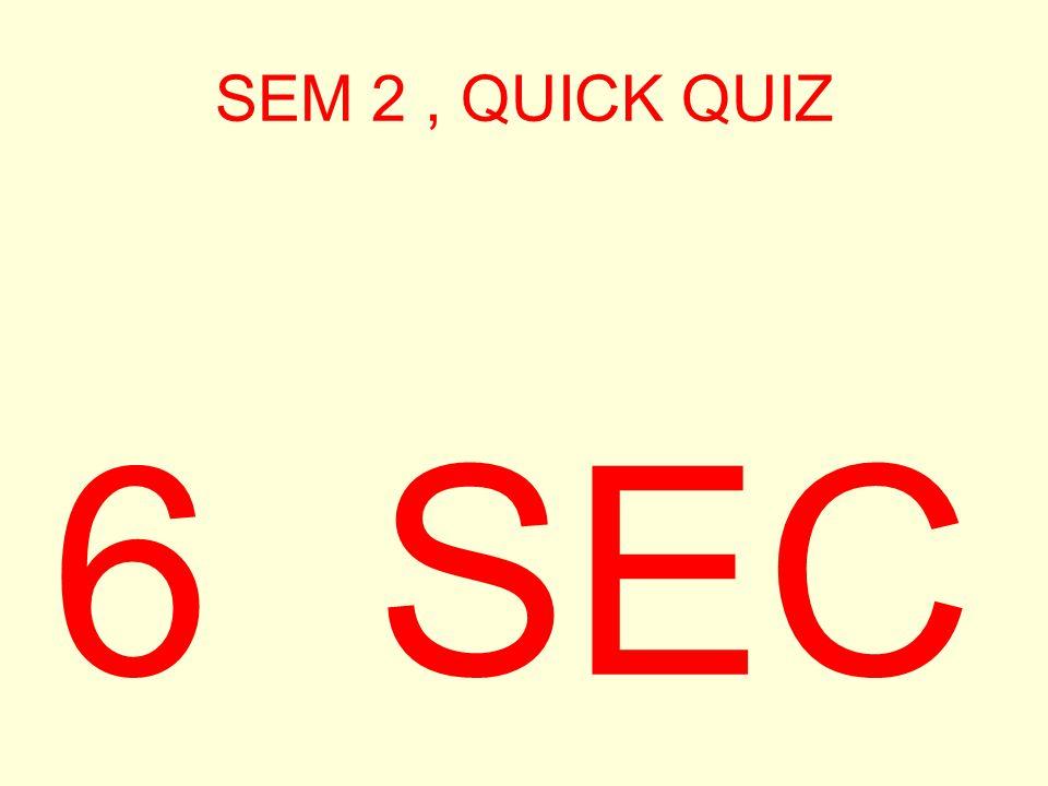SEM 2, QUICK QUIZ 7 SEC